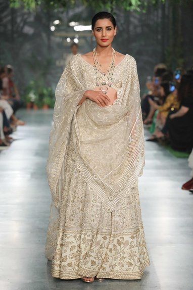 Gold jaal embroidered dupatta
