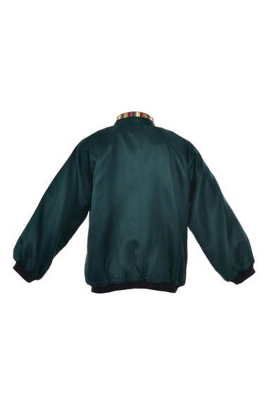 Embroidered Pine Bomber Jacket
