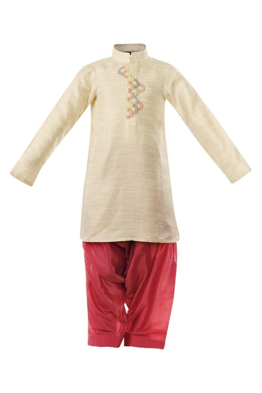 Resham Embroidered Pathani Suit