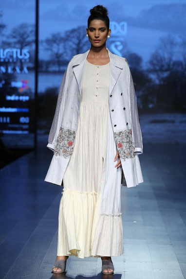 Double Breasted Embroidered Trench coat
