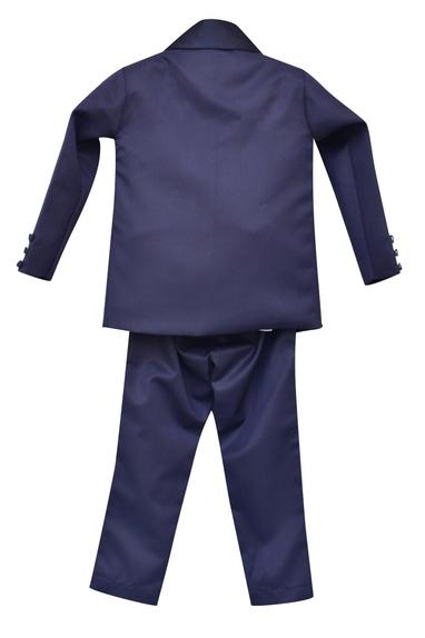 Lapel Collar Suit With Waistcoat, Pant & Shirt