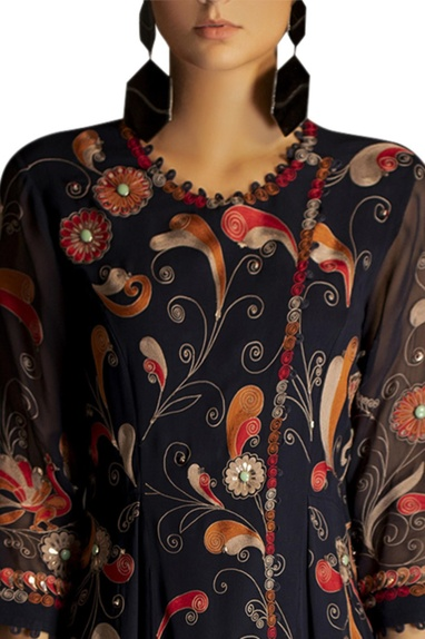 Floral embroidered tunic with palazzos