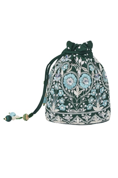 Floral Embroidered Potli Bag