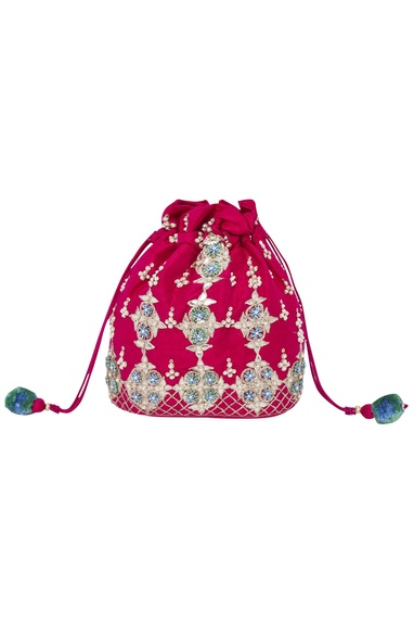 Sequin & Bead Embroidered Potli Bag