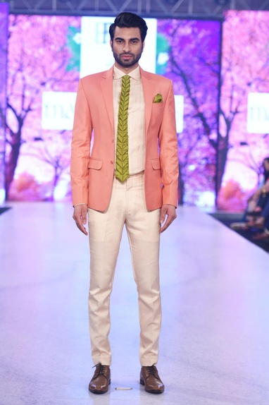 Salmon pink blazer set