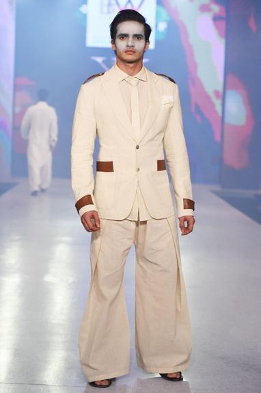 Beige wide-legged afghani pants