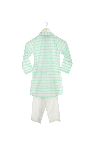 Light blue kurta with white pyjama