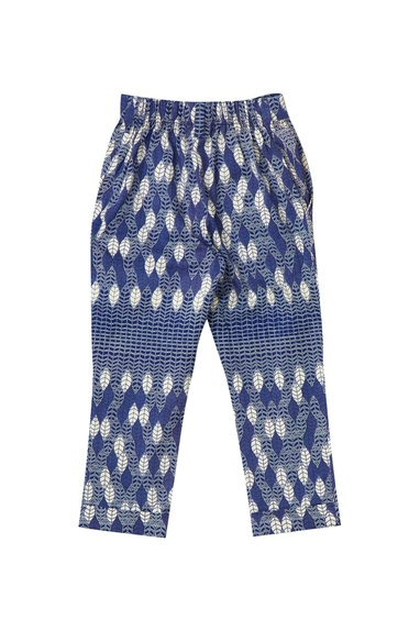 Leaf illusion print pants
