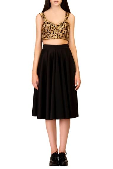 Black full circle skirt