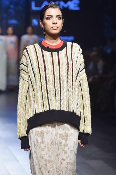 Black embroidered jumper & maxi skirt