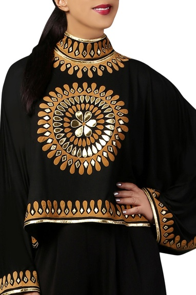 Black kimono style cape blouse