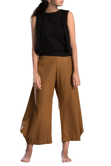 Tan brown cowl pants