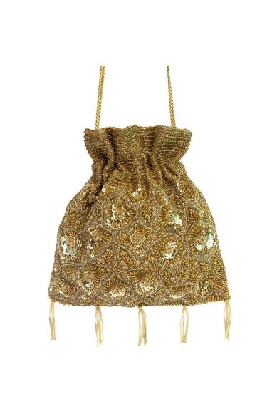 Gold sequin embellished potli