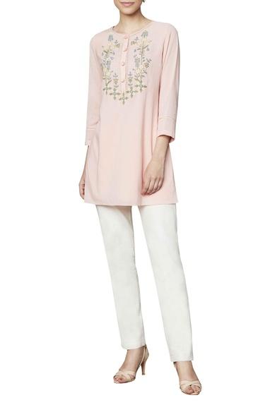 Blush cotton georgette blouse