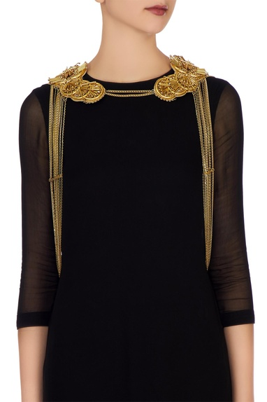 Gold plated body jacket necklace