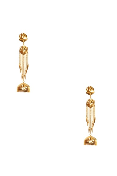 Gold plated duster earrings