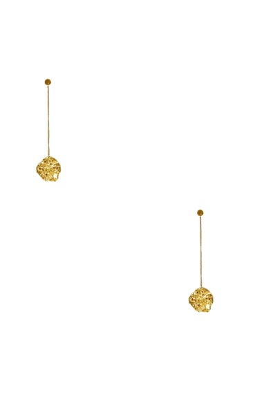 Gold plated mismatch dangling earrings