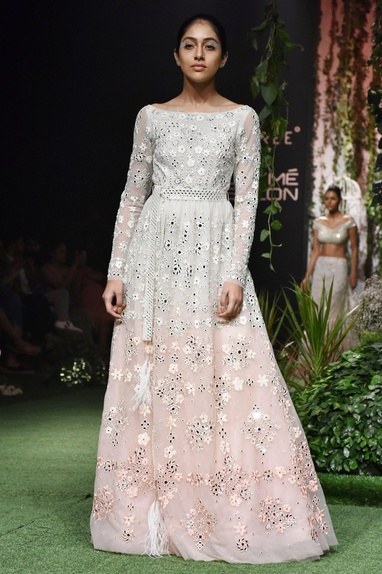 Pale Pink mirrored gown