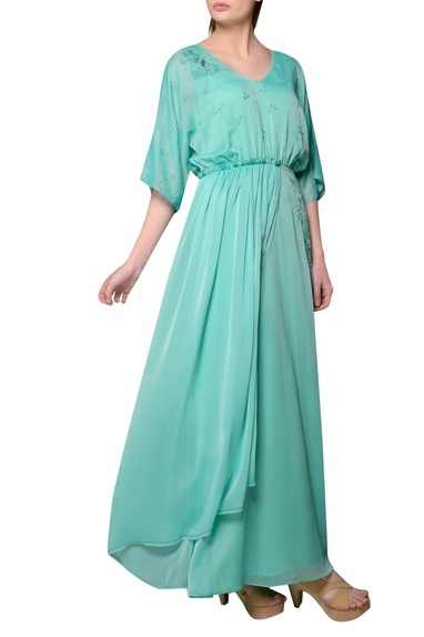 Aquamarine english georgette gown