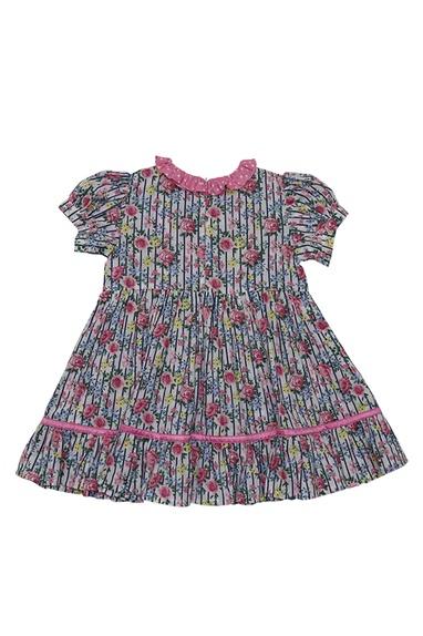 Pink cotton floral dress