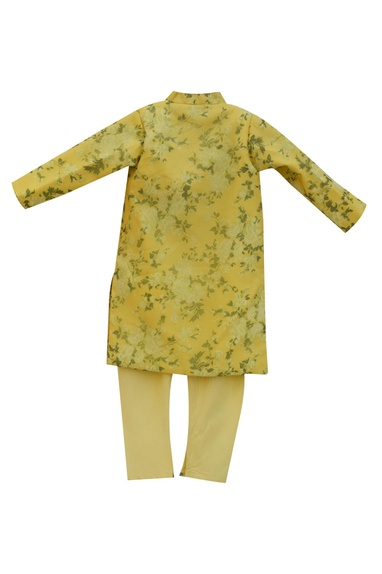 Yellow achkan jacket with churidar