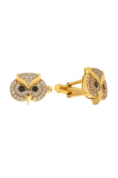 Gold & black brass handcrafted owl cufflinks