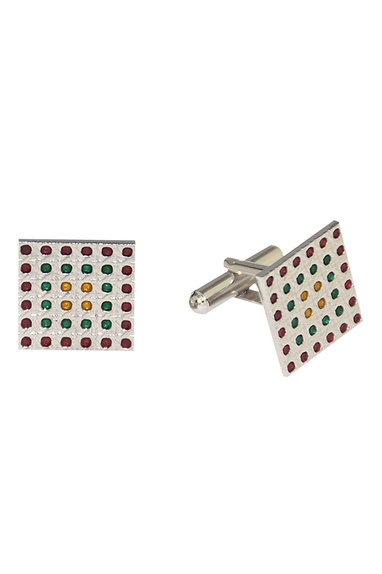 Multicolored square handcrafted cufflinks