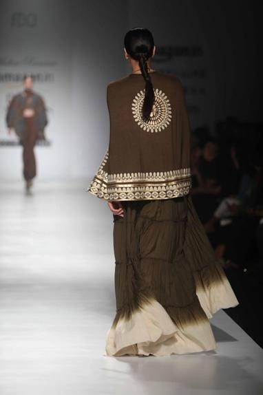 Dark brown gypsy cape