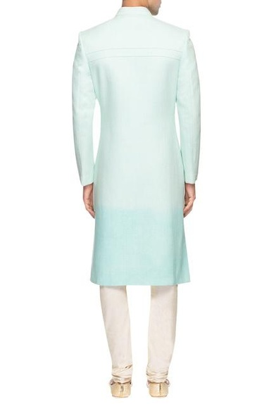 Blue shaded sherwani