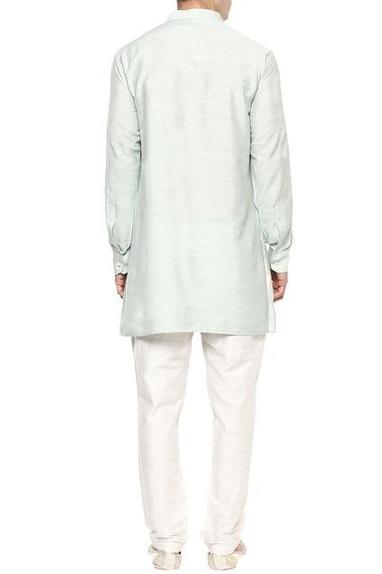 Mint green & beige kurta set