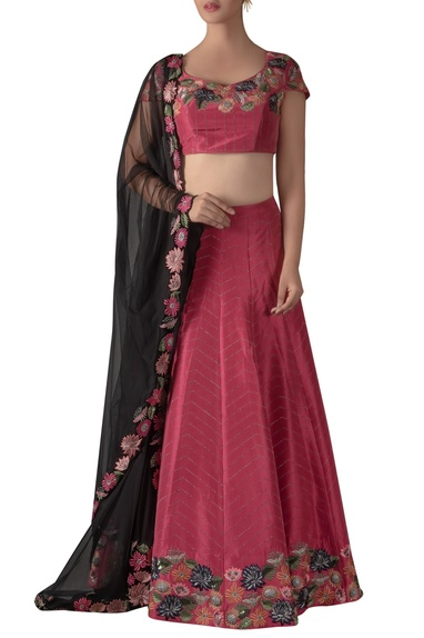 Floral Sequin Embroidered Lehenga Set