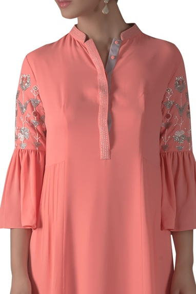 Embroidered Flared Sleeve Tunic