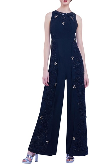 Sequin & Bead Embroidered Jumpsuit