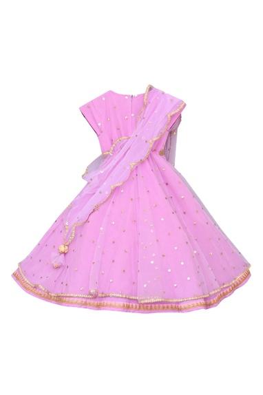 Embellished stitched lehenga sari