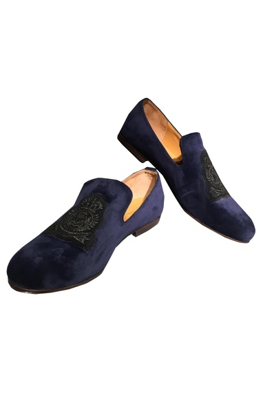 Patchwork Embroidered Loafers