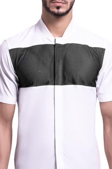 Ribbed mesh active shirt
