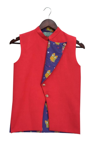 Flip over jacket with owl print