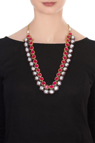 Kundan double layered tie-up necklace