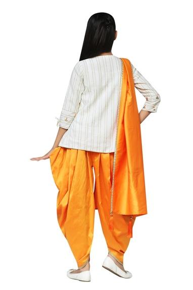 Gota patti embroidered kurta with dhoti pants