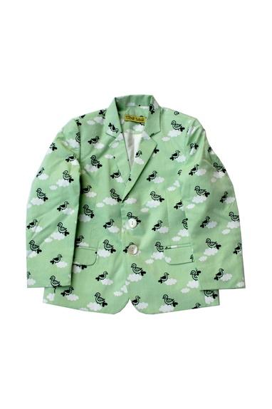 Pure cotton cloud printed blazer