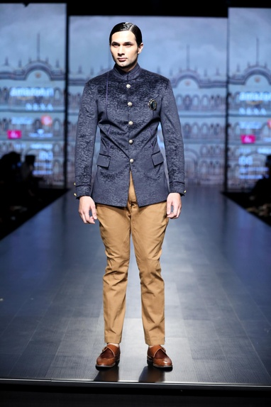Textured velvet jodhpuri jacket