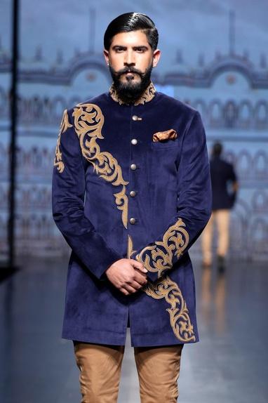 Embroidered achkan