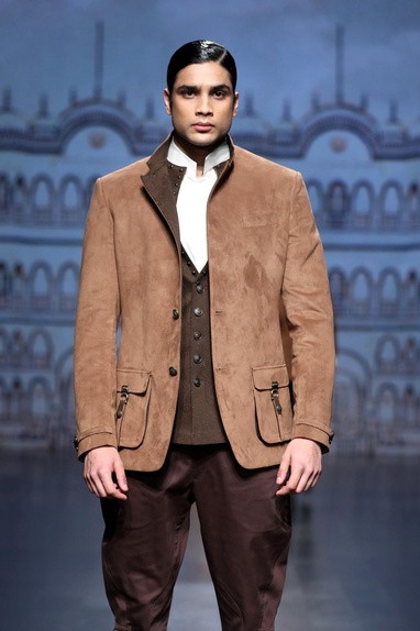 Tan brown suede jacket
