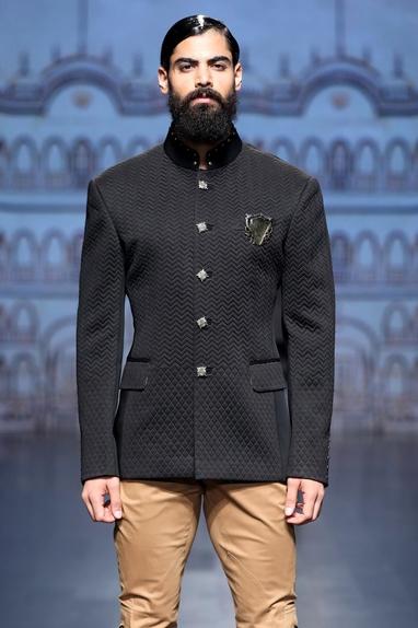 Quilted jodhpuri jacket