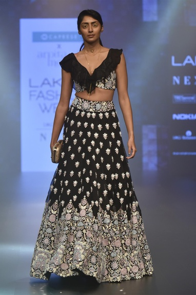 Floral embroidered lehenga with blouse