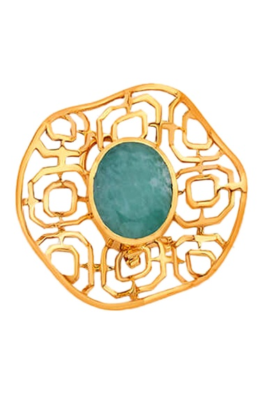 Filigree gold plated earrings