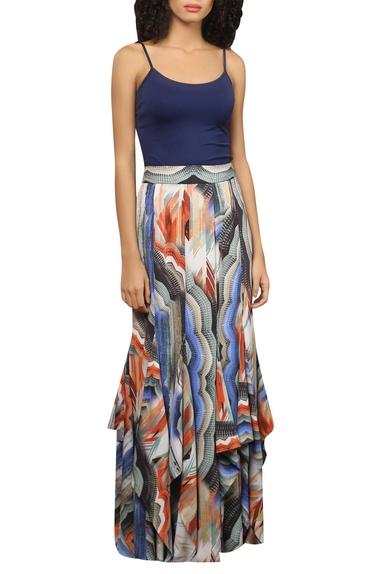 Digital printed maxi skirt
