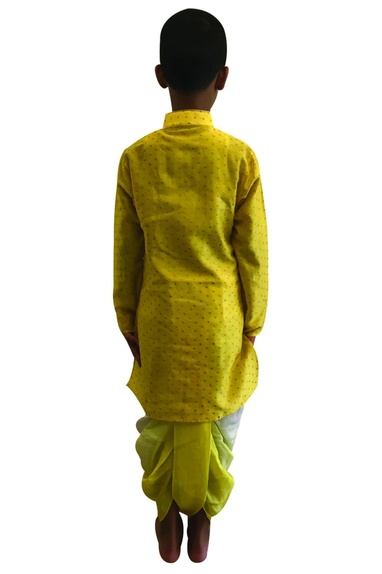 Printed kurta with dhoti