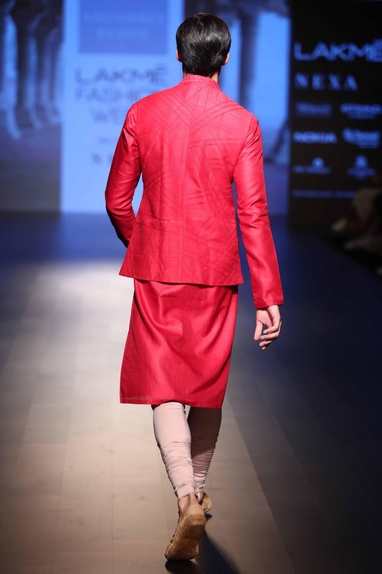 Nehru jacket with kurta and churidar