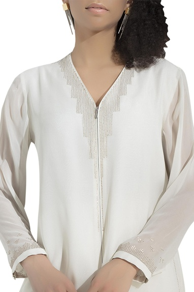 Embroidered shirt tunic